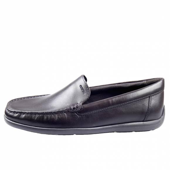 Ανδρικά Μοκασίνια Geox U948BB 00043 C6006 Devan smo leather Dk Brown