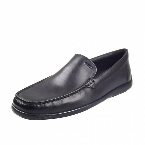 Ανδρικά Μοκασίνια Geox U948BB 00043 C9999  Devan smo leather Black