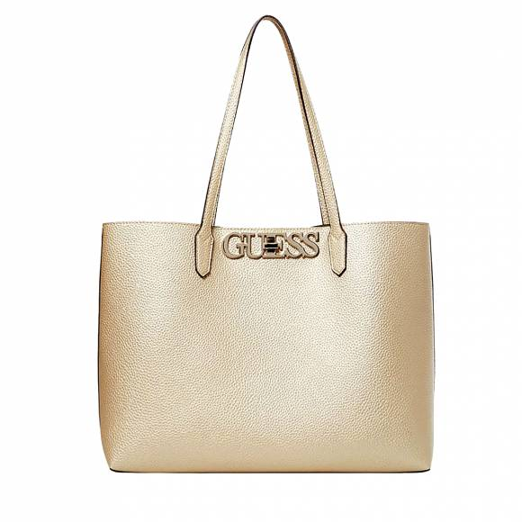 Γυναικείες Τσάντες Guess Uptown chic MG730123 barcelona tote gold