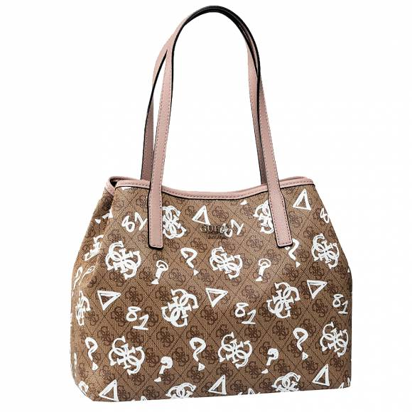 Γυναικείες Τσάντες Guess Vikky Large Tote GB6999524 Brown Multi