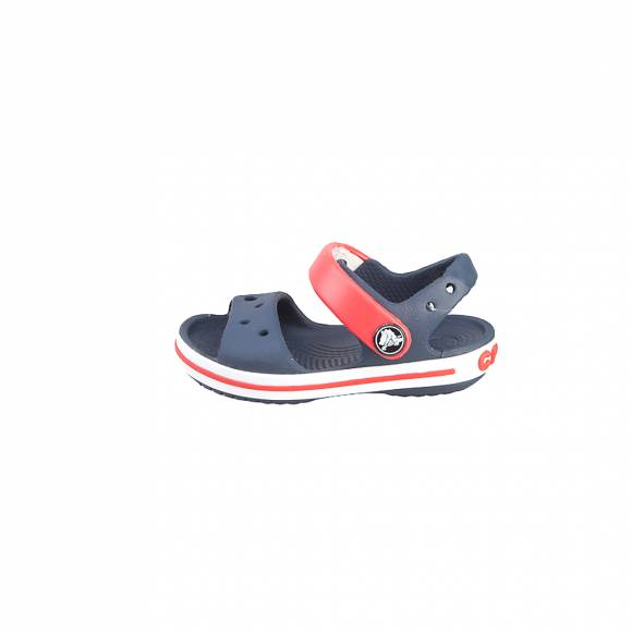 CROCS CROCBAND SANDAL KIDS NAVY RED RELAXED FIT 12856-485
