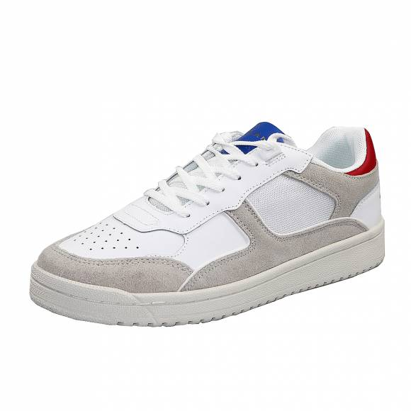 Ανδρικά Δερμάτινα Sneakers Pepe Jeans PMS30597 803 Kurt 1973 Off White