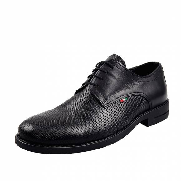 Ανδρικά Δερμάτινα Παπούτσια Casual  Uomo 21 Black