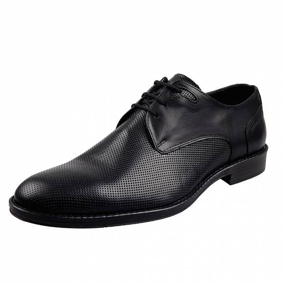 Ανδρικά Δερμάτινα Παπούτσια Casual Uomo 38 Black