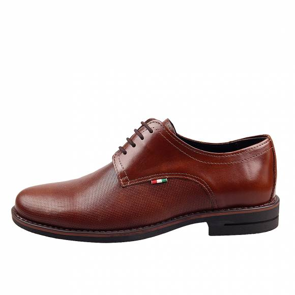 Ανδρικά Δερμάτινα Παπούτσια Casual  Uomo 21 Cognac