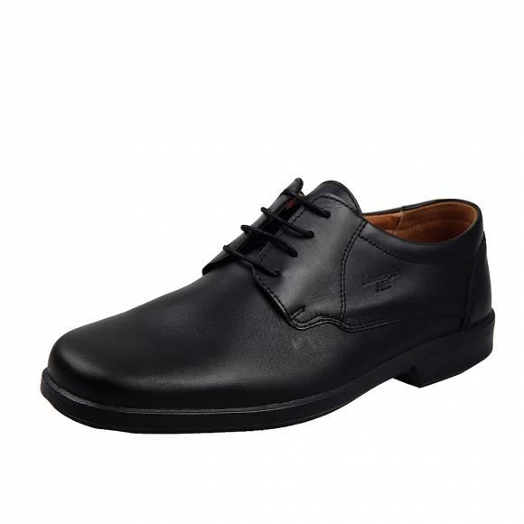 Ανδρικά Δερμάτινα Παπούτσια Casual Boxer 10070 Μαύρο