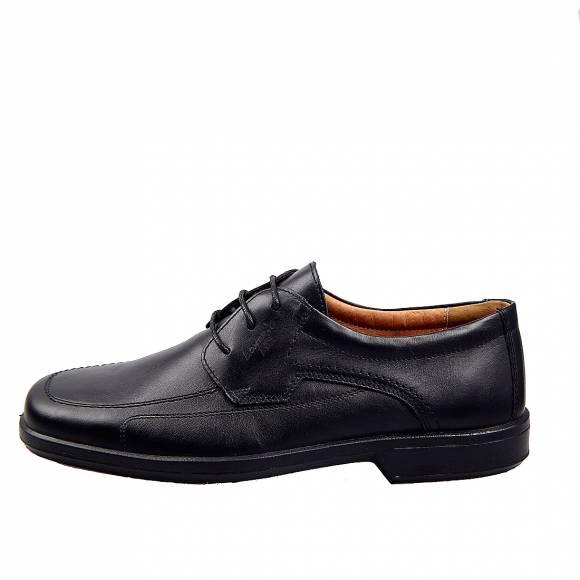 Ανδρικά Δερμάτινα Παπούτσια Casual Boxer 10104 Μαύρο
