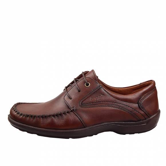 Ανδρικά Δερμάτινα Παπούτσια Casual Boxer 15332 Καφέ