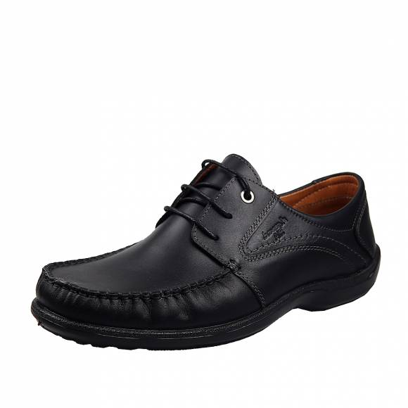 Ανδρικά Δερμάτινα Παπούτσια Casual Boxer 15332 Μαύρο