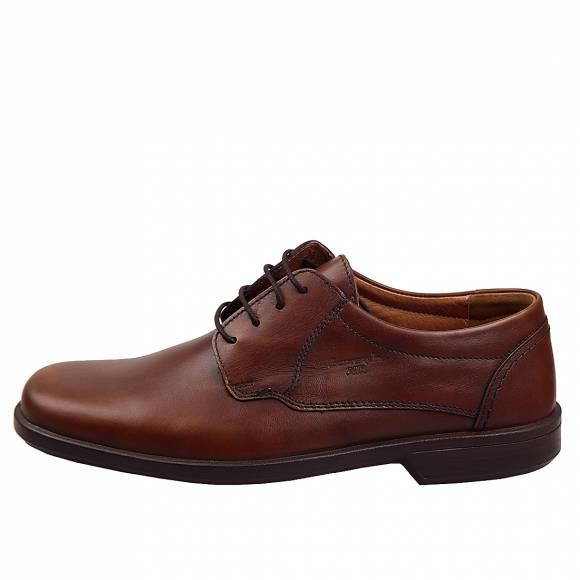Ανδρικά Δερμάτινα Παπούτσια Casual Boxer 10070 Καφέ