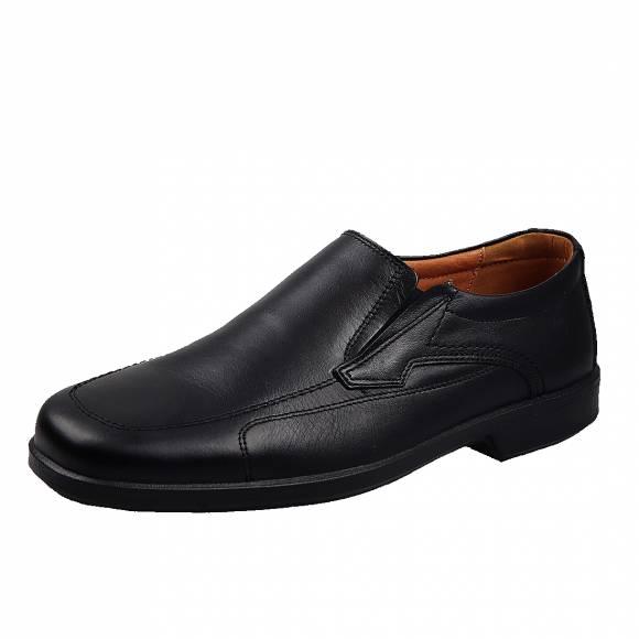 Ανδρικά Δερμάτινα Παπούτσια Casual Boxer 10105 Μαύρο
