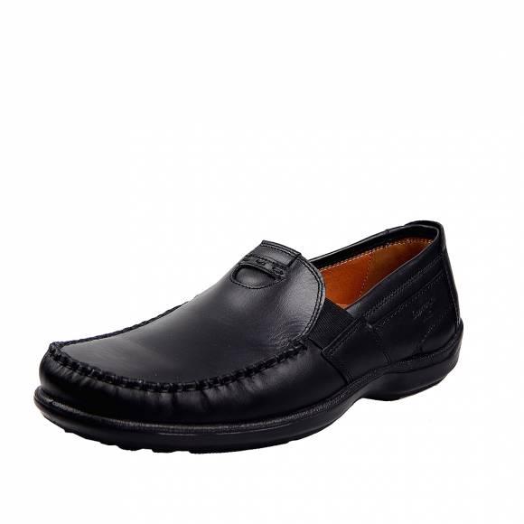 Ανδρικά Δερμάτινα Παπούτσια Casual Boxer 15333 Μαύρο