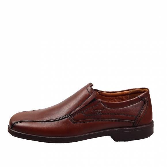 Ανδρικά Δερμάτινα Παπούτσια Casual Boxer 10052 Κονιάκ