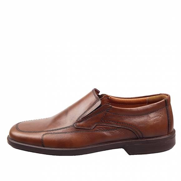 Ανδρικά Δερμάτινα Παπούτσια Casual Boxer 10105 Ταμπά