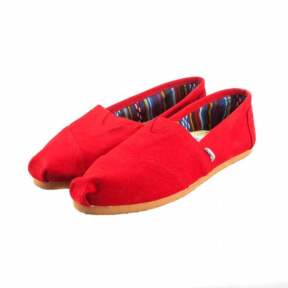 TOMS 10000874 CLASSIC RED CANVAS