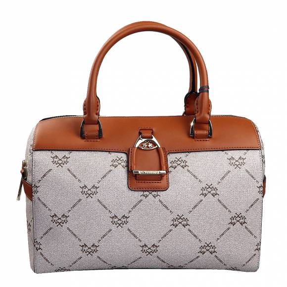 Γυναικεία Τσάντα La Martina Boston Bag Monica 41W497 P0009 F4013 Nomad Choco Brown