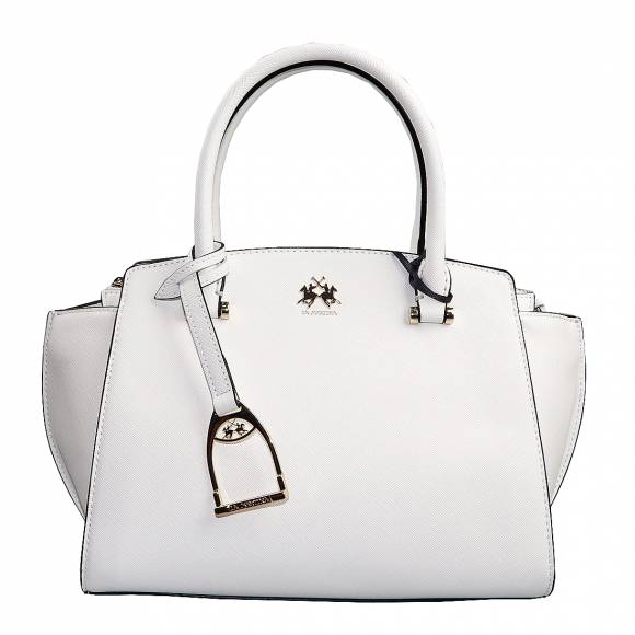 Γυναικεία Τσάντα La Martina Hanndbag Valeria 41W504 P0020 0001 Optic White
