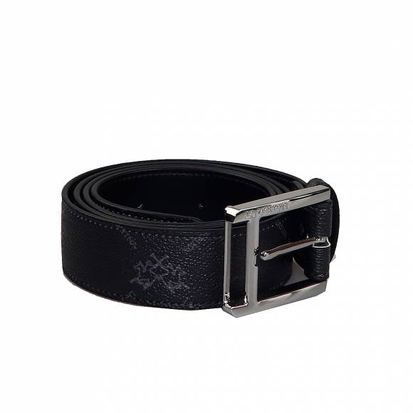Ανδρικες Ζώνες La Martina Man Belt 41M165 P0017 F9061 Charcoal Grey Black