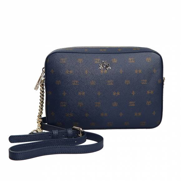 Γυναικεία Τσάντα La Martina Sho Jlder bag IDA 41W337 P0031 F7259 Navy Golden Glow