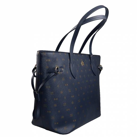 Γυναικεία Τσάντα La Martina Shopper bag IDA 41W301 P0031 F7259 Navy Golden Glow