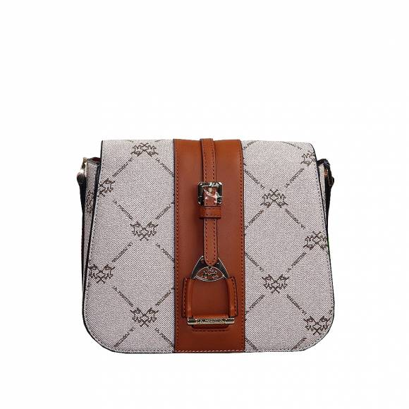 Γυναικεία Τσάντα La Martina Shoulderbag With Flap Monica 41W498 P0009 F4013 Nomad Choro Brown