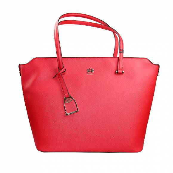 Γυναικεία Τσάντα La Martina Shopping  bag medium VALERIA 41W501 P0020 06003 True Red