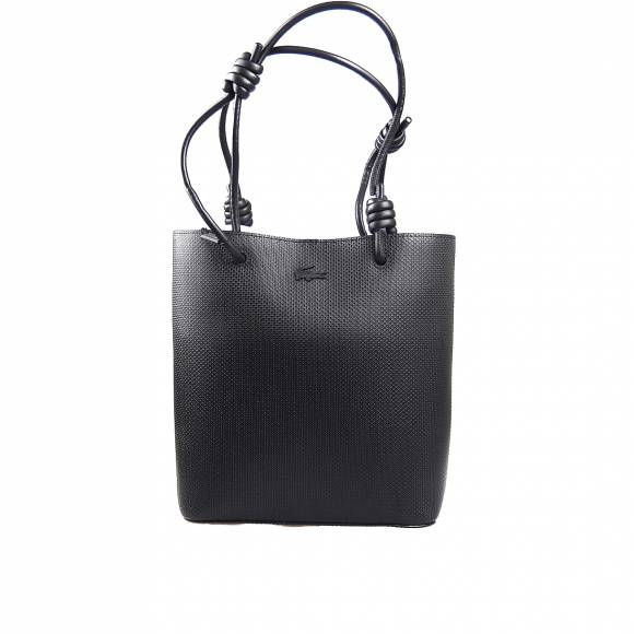 Γυναικεία Τσάντα Lacoste NF3215CE 000 Noir Vertical shopping bag Split Cow Leather