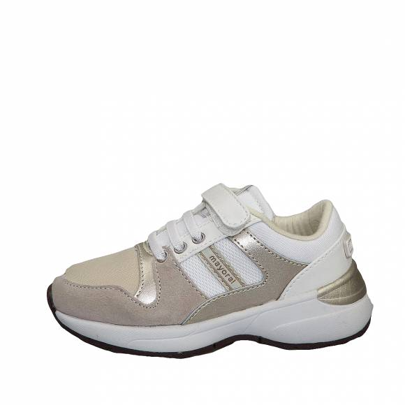 Παιδικά Δερμάτινα Sneakers Mayoral 43 127 Running moda 33 Blanco