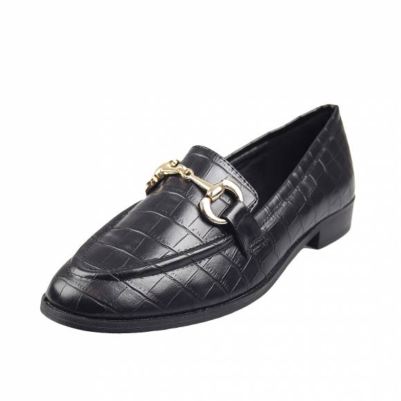 Γυναικεία Loafers Miss Envie V84 12204 34 Black Croco