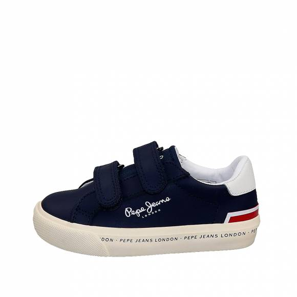 Παιδικά Δερμάτινα Sneakers Pepe Jeans PBS30412 595 Tennis Action Kids Navy