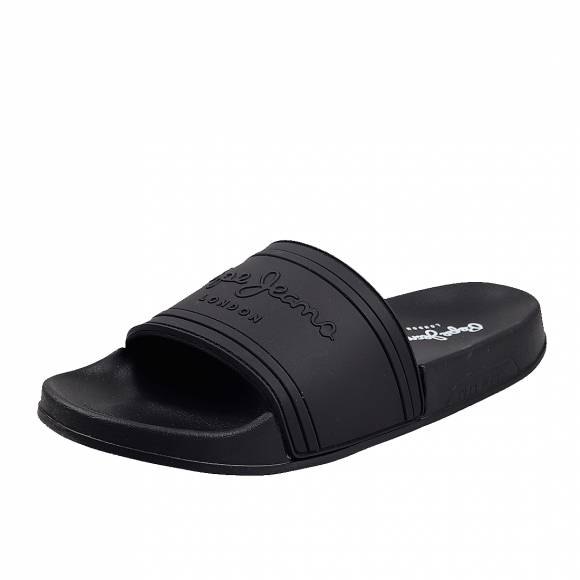 Γυναικείες slider Pepe Jeans PLS70081 999 slider unisex black