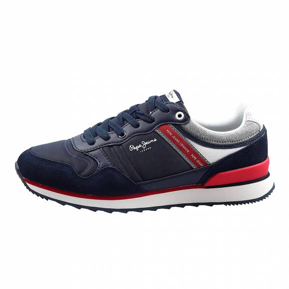 Ανδρικά Δερμάτινα Sneakers Pepe Jeans PMS30607 595 Cross 4 Navy