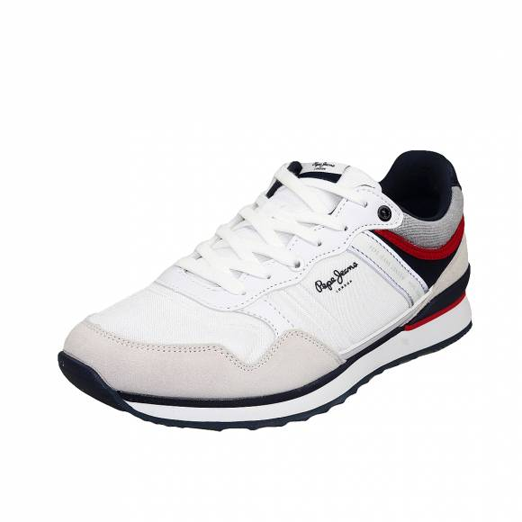 Ανδρικά Δερμάτινα Sneakers Pepe Jeans PMS30607 800 Cross 4 white