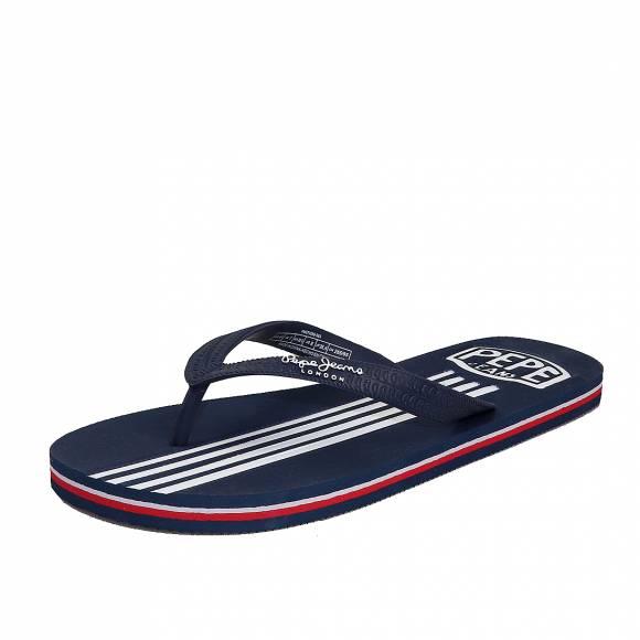 Ανδρικές Σαγιονάρες Pepe Jeans PMS70089 585 swimming stripes marine