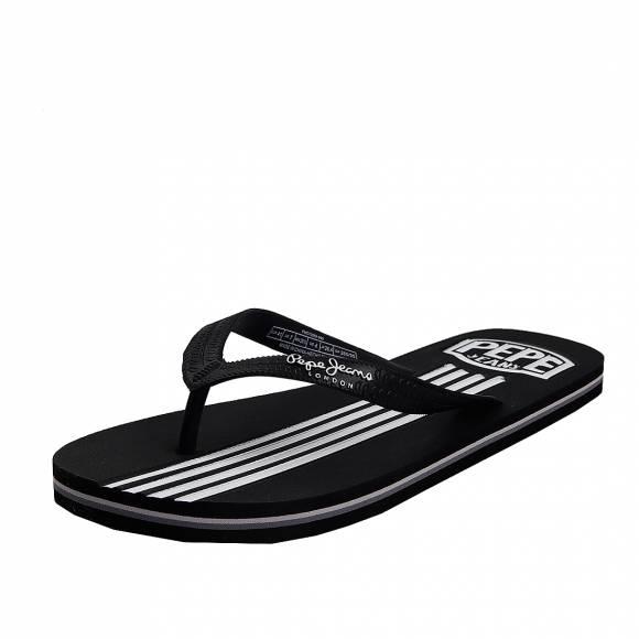 Ανδρικές Σαγιονάρες Pepe Jeans PMS70089 999 swimming stripes black