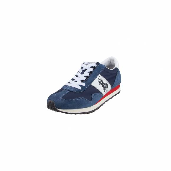 Ανδρικά Δερμάτινα Sneakers Polo Ralph Lauren 809755192004 Train 90 PP SK ATH NAVY MU