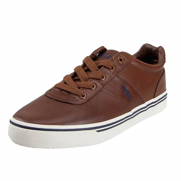 Ανδρικά Δερμάτινα Sneakers Polo Ralph Luren 816765046004 Hanford sk vlc cla Tan