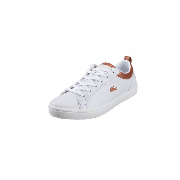 Γυναικεία Δερμάτινα Sneakers Lacoste Straigtset 319 1 CFA WHT COP LEATHER 7-38CFA0007WCO