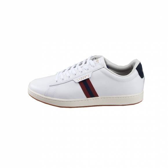 Ανδρικά Δερμάτινα Sneakers Lacoste 7 38SMA0030407 Carnaby EVO 319 1 SMA WHT RED Leather