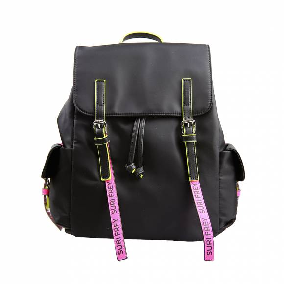 Γυναικείες Τσάντες Backpack SURI Black Label 16004 167 black pink