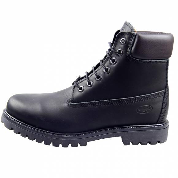 Ανδρικά Δερμάτινα Αρβυλάκια Sea And City C10 Working Boot Black