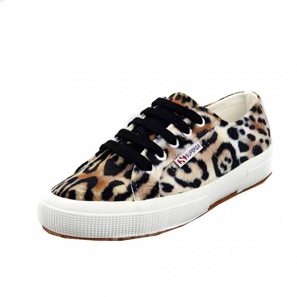 Γυναικεία Sneakers Superga 2750 Fanvelvetw leopard Brown Black S00DKM0 AOT