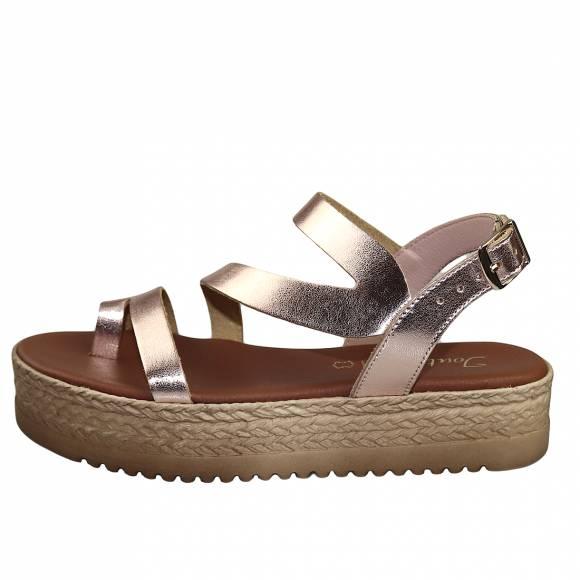 Γυναικεία Flatforms Toutounis 26186 Rose Gold