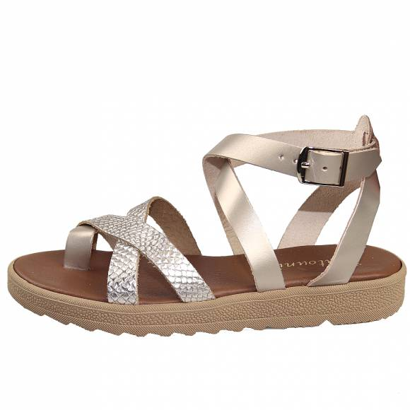 Γυναικεία Flatforms Toutounis 47183 Sand Leather lepi