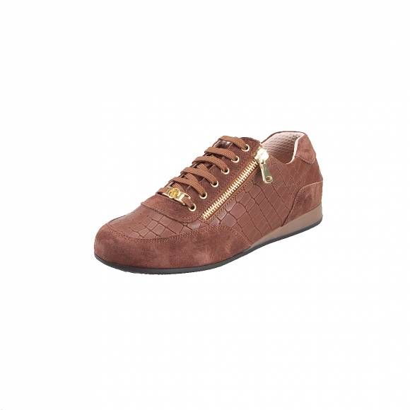 Γυναικεία Δερμάτινα Sneakers Toutounis F2167 Brown Suede Croco
