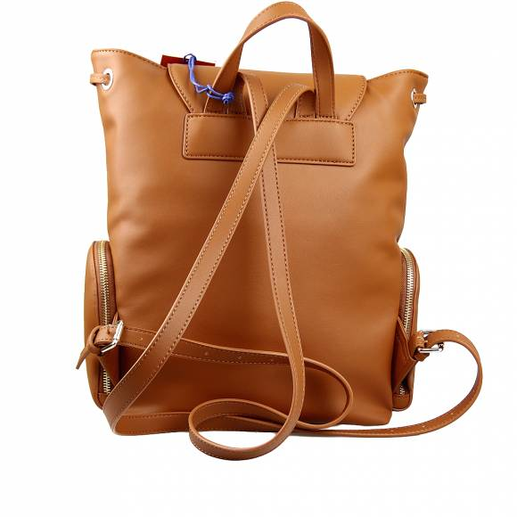 Γυναικεία Τσάντα Backpack Trussardi 75B00963 9Y099999 B660 Lisbona Backpack Md Smooth Ecoleather Cuoio