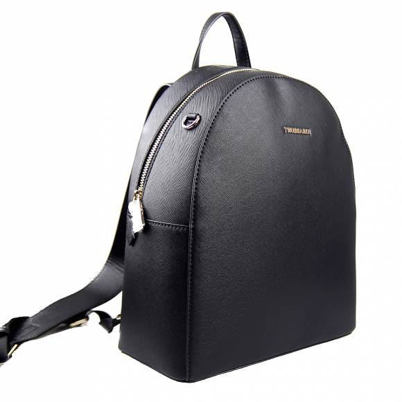 Γυναικεία Τσάντα Backpack Trussardi 75B00969 9Y099999 K299 Mosca Backpack Md Saffiano Ecoleather Black