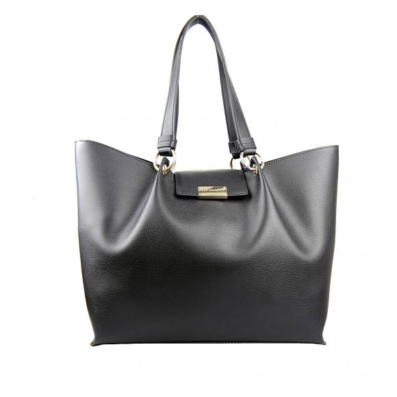 Γυναικεία Τσάντα Trussardi 75B00973 9Y099999 K299 Madrid Shopper Lg Unlined Smooth Ecoleather Black