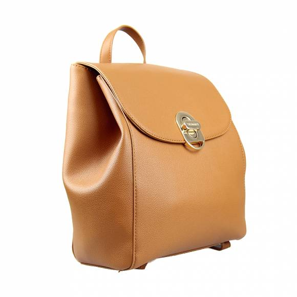Γυναικεία Τσάντα Backpack Trussardi 75B01001 9Y099998 B660 Boston Md Tumbled Ecoleather Cuoio