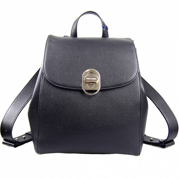 Γυναικεία Τσάντα Backpack Trussardi 75B01001 9Y099998 K299 Boston Md Tumbled Ecoleather Black